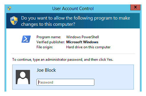 How to elevate a non-admin user in Windows while logged in as a